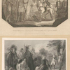 General Burgoyne addressing the Indians [two images].