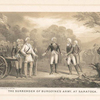 The surrender of Burgoyne's army, at Saratoga.