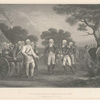 The surrender of Burgoyne's army at Saratoga, Oct. 17, 1777.