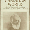 Horace Bushnell. (from the cover of The Congregationalist and Christian World, 7 June 1902).