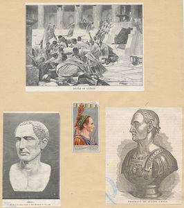 Death of Cæsar - Cæsar, from a... Digital ID: 1165318. New York Public Library