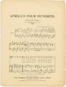 Africa's four hundred / words and music by Barney Fagan.