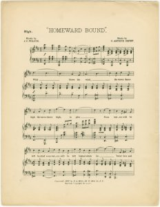 Homeward bound / words by J.C. Wilcox ; music by G. Arthur Depew.