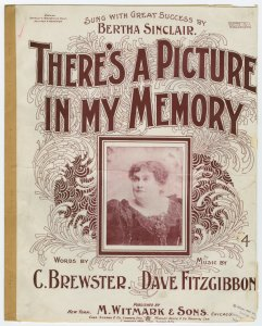 There's a picture in my memory / words by C. Brewster ; music by Dave Fitzgibbon.