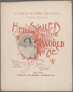 Her smile is all the world to me / words by Horace D. Allen; music by Wm. W. Eddy.