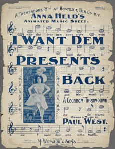 I want dem presents back / words and music by Paul West.