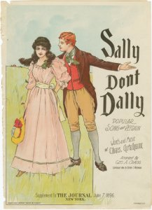 Sally, don't dally / words and music by Chas. Graham.
