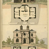 Ground plans: 1. Parlor, scullery, bed room, kitchen, and sitting room. - 2. Scullery, store room, sitting room, kitchen and parlor.