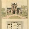 Ground plan:  Kitchen, pantry, parlour and parlour.