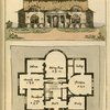 Ground plan: Hall, breakfast room, musick room, cabinet, eating room, larder, scullery, kitchen and study.
