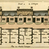 Front of the cottages ; Plan for attached cottages.