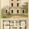 Ground plan: Anti room, dressing room, dining room, drawing room, breakfast room and library.