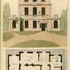 Ground plan: Hall, drawing room, billiard room, dining room, bath and breakfast room.