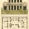 Ground plan: Servants room, dressing room, bed room, library, drawing room, eating room, anti room, dressing room and boudoir.