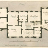 Plan: Hall, eating room, tea room, drawing room, conservatory, musick room, anti room, breakfast room, housekeeper's room, store room, pantry, kitchen, scullery and steward's room. (House shown in P. XXX)