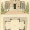 [Plan and view of a mausoleum.]