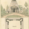 [View and building plan of a chapel.]
