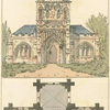 Gothic Chapel and it's building plan.