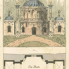 Turkish Temple and its plan of the Tea Room.