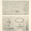 [Engraved condiment-holders - Engraved pitcher, candlestick.]