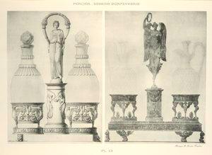 [Empire style engraved bottle-holders.]