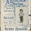 A little boy for sale