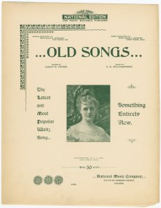 Old songs / words by Lucian W. Snyder ; music by R.M. Hollingsworth.