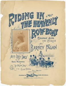 Riding in the heavenly row-boat / by Barney Fagan.