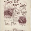 Those lost happy days