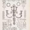 Bronzelüstre aus dem Sclosse Fontainebleau - Entwurf für Wanddekorationen - Bronzebeschläge für Möbel.