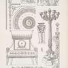 Deckendekoration - Bronzebeschläge - Thronsessel - Kandelaber im Grand Trianon, Versailles - Bekrönung aus Bronze - Ehrenschwert - Dreiffuss aus Bronze.