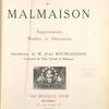 Collections & souvenirs de Malmaison : appartements, meubles et décoration