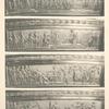 Malmaison: Surtout en Vermeil. (Bas-reliefs des deux nefs impériales).