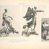 Malmaison: Surtout en Vermeil. 1. Figure de la Bienfaisance (proue de la nef de l'Imperatrice). 2. Figure de la Victoire (proue de la nef de l'Empereur). 3. Nef de l'Impératrice.