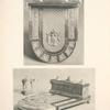 Malmaison: Surtout en Vermeil. 1. Cadenas de l'Empereur (plan). 2. Cadenas de l'Impératrice (élévation).