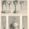 Malmaison: Surtout en Vermeil. 1. Bas-reliefs di cadenas de l'Empereur. 2. Corbeille à fruits. 3. Bas-reliefs du cadenas de l'Impératrice.