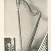 Malmaison: Salon de Musique. Harpe de l'Impératrice Joséphine (Ensemble et motifs des bronzes)