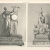 Malmaison: 1. Pendule de la Chambre de Bonaparte aux Tuileries. 2. Minerve, statuette du boudoir