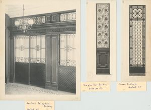 New York Telephone building, New York, N.Y.; Temple bar building, New York, N.Y.; Broad Exchange, New York, N.Y.