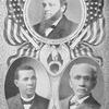 Three prominent educators and authors; Prof. J.W. Gibson; Prof. Booker T. Washington; Prof. W.H. Crogman.