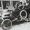 Madam C.J. Walker (driving) with (left to right) her niece Anjetta Breedlove; Madam C.J. Walker Manufacturing Company factory forelady (manager) Alice Kelly; and Walker Company bookkeeper Lucy Flint.