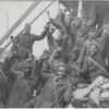Members of the Harlem-based 369th Regiment arriving in New York  after fighting in World War I, 1919