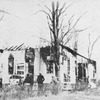 Ruins of colored school building, Red Bank, N.J., set fire by whites as a sequel to race war at Carteret, N.J.