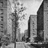 The Dunbar apartments in Harlem, New York City, where 511 Negro families have escaped from the ugliness which ordinarily surrounds Negro life
