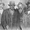 Black and white miners striking together in the coal fields of Pennsylvania