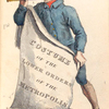 Costume of the lower orders of the metropolis. [Title pg. Man holding the banner].