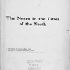 The Negro in the cities of the north, title page