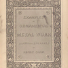 Examples of ornamental metal work, [Title page]