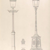 Street lamps. 1. From the United University Club House - 2. Designed by H. Shaw.