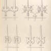 Designs for iron railings.